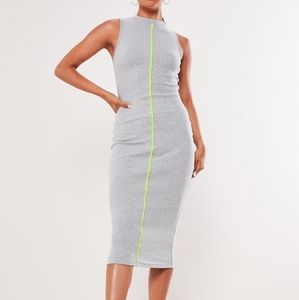 ⭐NWT Missguided   Ribbed Dress with Neon Piping!